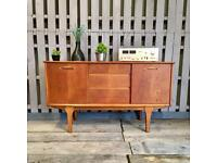 Jentique vintage retro teak sideboard mid century