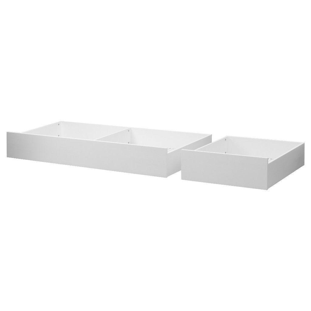 Ikea Under Bed Storage   White 2 Units On Wheels