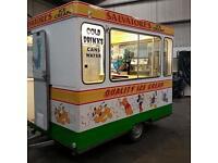 Ice cream and coffee trailer ice cream van
