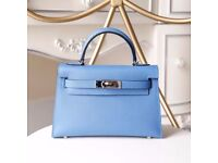 Minikelly blue leather ocean bag