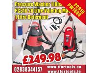 SEALEY PW1600 PRESSURE WASHER 110BAR + PC310 VALETING MACHINE CARPET CLEANER & SOAP