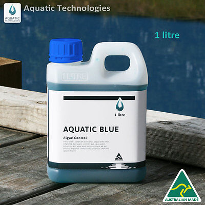 Aquatic Blue Pond Dye 1Litre   Aquatic Weed   Algae Growth Suppressant