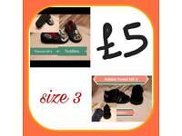Boys bundle of trainers size 3 adidas thomas