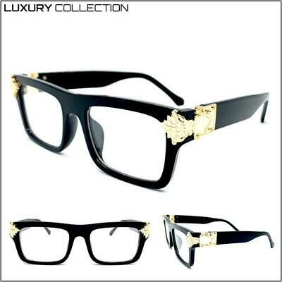 Classy Elegant LUXURY Designer Fashion Clear Lens EYE GLASSES Thick Black (Novelty Frames)