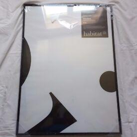 "HABITAT ALUMINUS 50 X 70cm/ 20 X 28"" Black Metal Picture Frame RRP £32"
