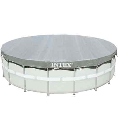 Intex Cobertor Piscina Circular Cubierta Lona Redonda Duradera Drenaje 488 cm