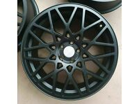 "AUDI TT A3 A1 VW GOLF BORA x4 18"" ROTIFORM BLQ STYLE ALLOY WHEELS 5X100 ET35 8J"