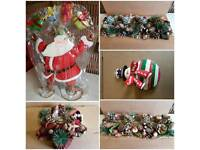 Selection of Christmas decorations. All new