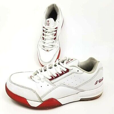 Reebok G Unit Mens 8.5 Sneakers White Red Lace Up Low Top Shoes EUR 39