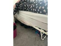 2 single mattresses and bed