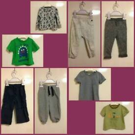 Boys age 12-18 months clothes bundle - 8 items