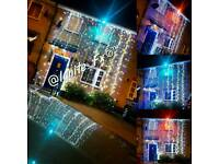 Wedding house lights and gates decor