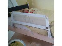 White bed rail