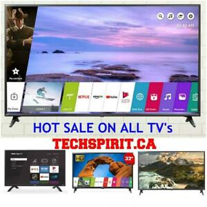Super Sale! Latest  LG, Samsung & RCA Smart TVs from $169