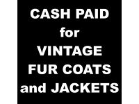 WANTED Vintage Fur Coats and Jackets