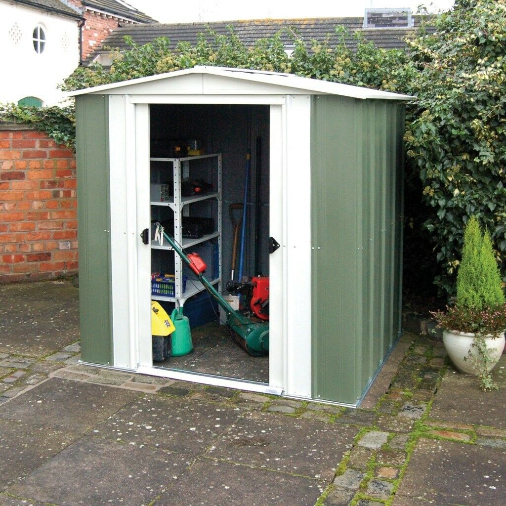Arrow 6x4 Approx Metal Garden Shed. Very Good Used Condition