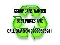 07710272083 Scrap Cars and vans wanted