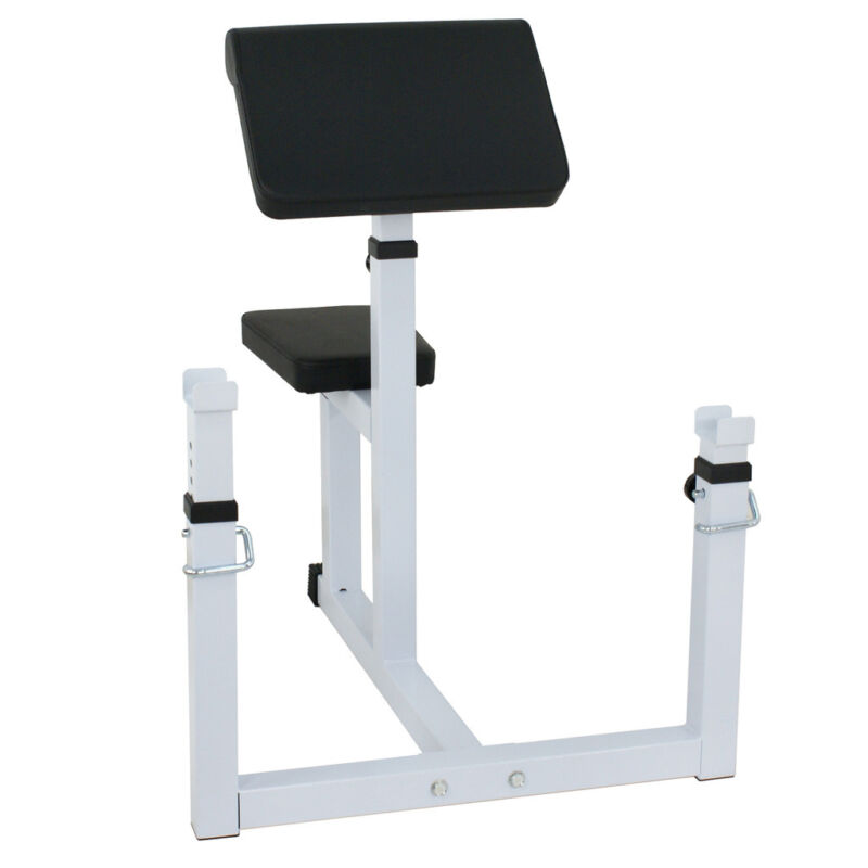 Fitness Preacher/Arm Curl Adjustable Weight Bench Attachment Dumbell Bicep