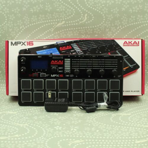 AKAI MPX16 Professional Sampler 16-Pad Player Recorder W/original box AC adapter