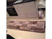 Carpet runner. Brown, beige and grey. Virtually new!