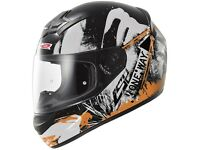 New LS2 FF352 Rookie One Black-Fluo Orange Motorcycle Helmet