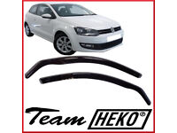 Brand New HEKO Wind Deflectors for VW POLO mk5 6R or 6C 3 doors 2009 - 2017 Tinted 2pc