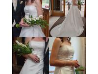 Wedding dress size 10 (can be adjusted at back to size 12) Rosetta Nicolini, in excellent condition