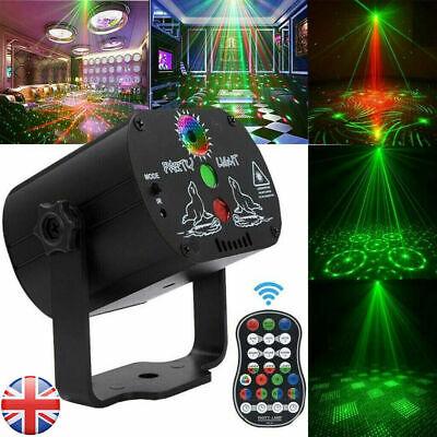 60 Pattern Mini LED Stage Lighting RGB Laser Projector Disco Party Club DJ Light