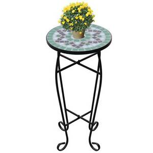 Mosaic Side Table Plant Table Green White(SKU 41130) vidaXL Mount Kuring-gai Hornsby Area Preview