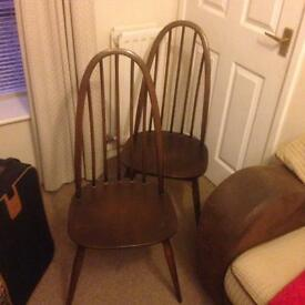 2 ercol chairs