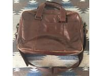 "Real Leather Laptop Messenger Bag (to for 13"" laptops)"