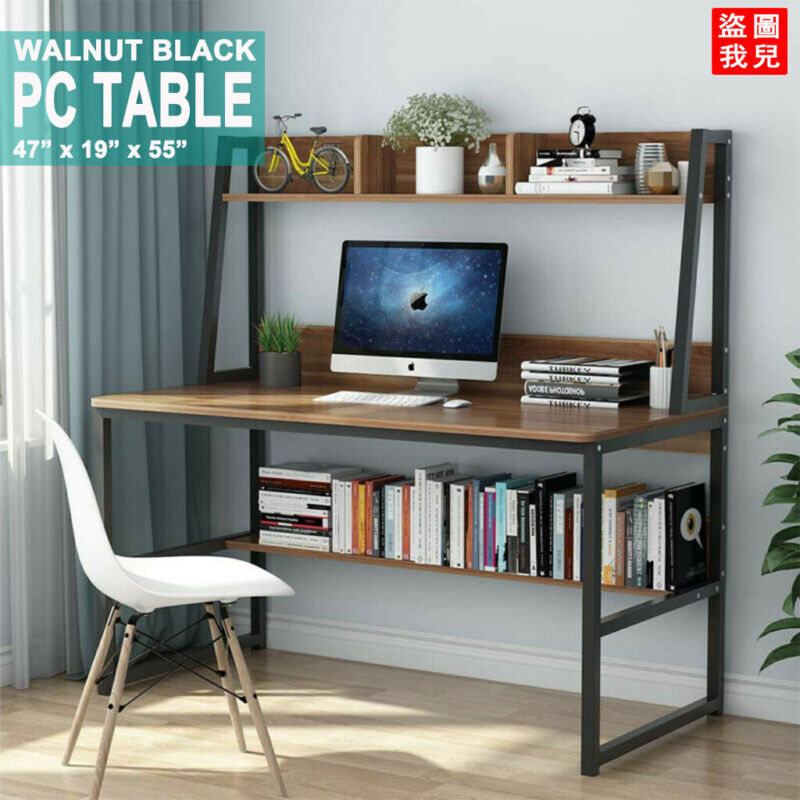 Tribesigns 47 Inches Computer Desk & Bookshelf Hutch Home Of