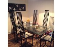 CUSTOM MADE DINING TABLE +6 CHAIRS IN EXCELLENT CONDITION FREE LOCAL DELIVERY AVAILABLE