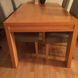 Next oak style dining table