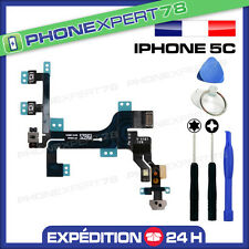 NAPPE FLEX DU BOUTON POWER ON/OFF + VOLUME + VIBREUR pour IPHONE 5C + OUTILS