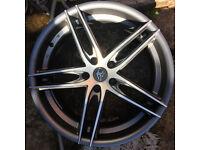 "RRP £819 AC shot Alloy wheels 19"" inch x 8.5j 5x112 NEW alloys wheel VW AUDI SEAT SKODA MERCEDES"