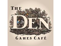 The Den Games Cafe Floor Staff Needed - Ideal for students (16+ please) wanting work experience