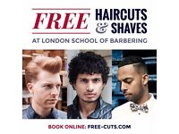 FREE MEN'S HAIRCUTS AND SHAVES
