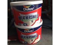 20lts dulux magnolia masonery paint.smooth