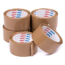 Rolls Low Noise Easy Tear Brown Sticky Packaging Tape 48mm x 66m New