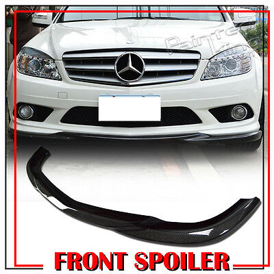 Stock in LA!FOR MERCEDES BENZ C CLASS W204 SEDAN CARBON FRONT BUMPER LIP 08-11