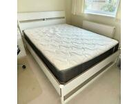 IKEA Trysil King Size Bed Frame with Inofia Pocket Springs Mattress