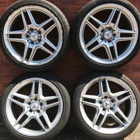 Mercedes Benz C Class 18 inch alloy wheels & tyres C-Class amg alloys rims