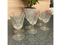 Crystal Sherry Glasses x6 - New
