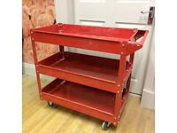 Red enamel trolley