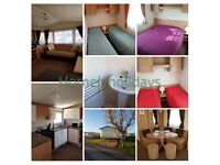 Pet friendly deluxe caravan to rent on Sand le Mere holiday park.