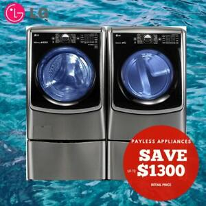 LG WM5000HVA 27 Front Load Steam Washer And DLEX5000V 27  Front load Electric Steam  Dryer