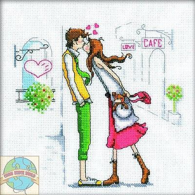 Cross Stitch Kit   Rto Couple In The City Romantic Love Engagement  M163