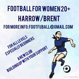 Women's Football for ALL women, mainly beginners, aged 20+, Harrow/Brent