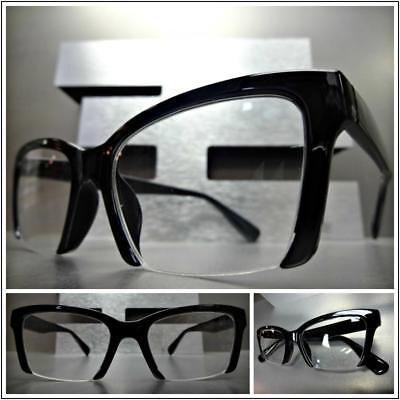 Women's CLASSY VINTAGE RETRO Style READING EYE GLASSES READERS Half Black (Classy Reading Glasses)